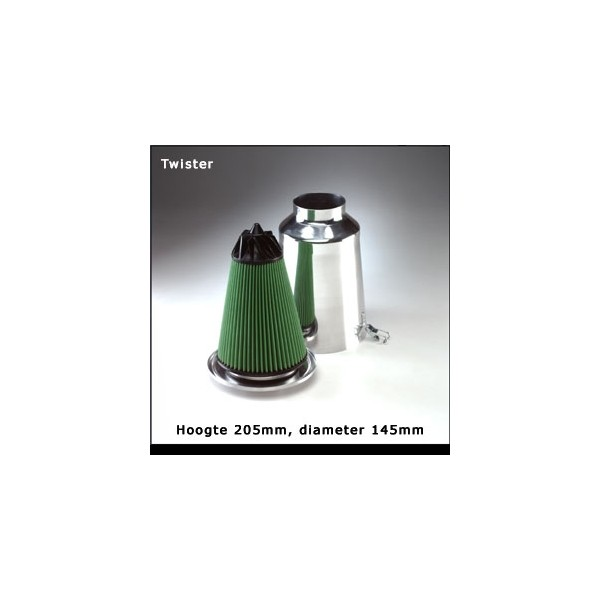 GREEN Twister filter 65mm flens Alu